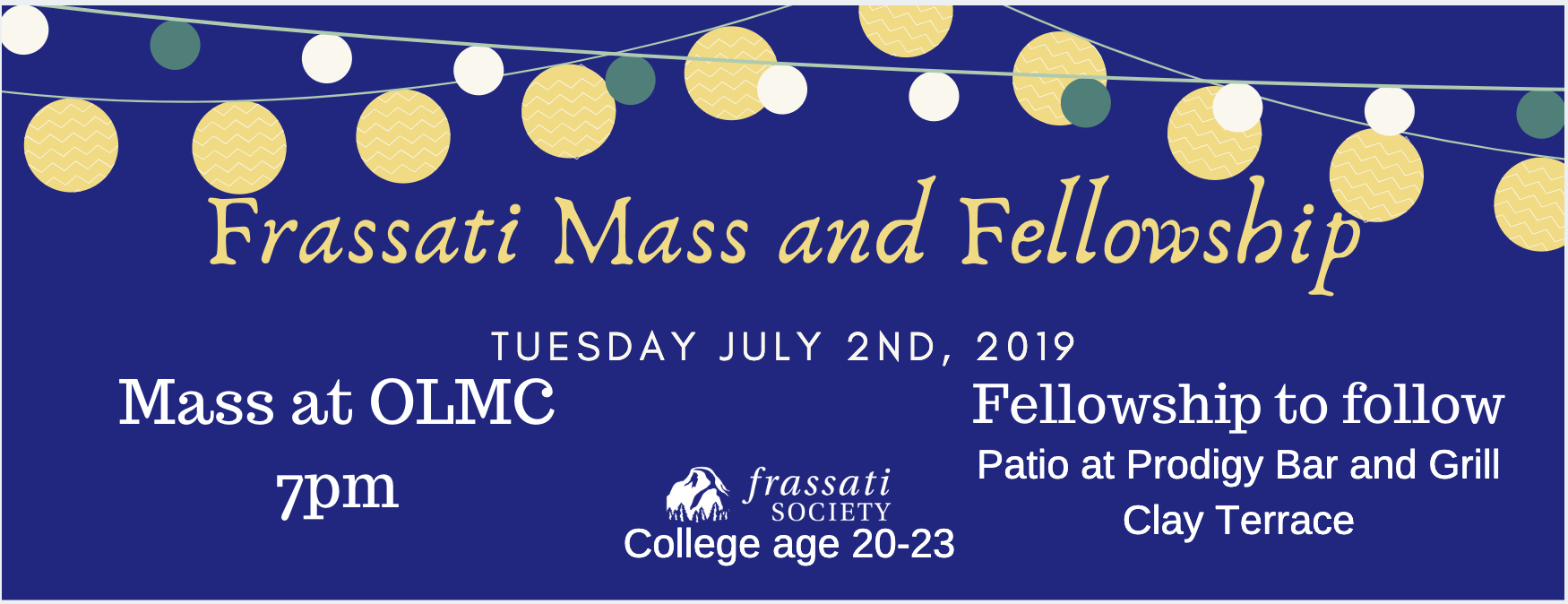Tuesday's on Main – Frassati